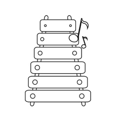Isolated xylophone instrument design vector