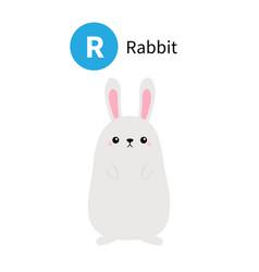 letter r rabbit zoo animal alphabet english abc vector image