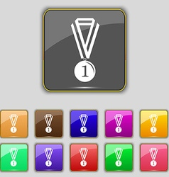 Medal for first place icon sign Set with eleven vector