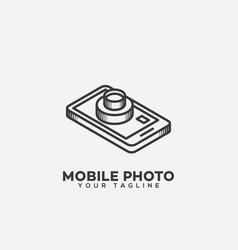 mobile photo logo vector image