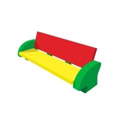 Multicolor bench cartoon icon vector