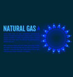 Natural gas banner vector