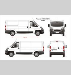 Peugeot boxer cargo delivery van 2017 l2h1 vector