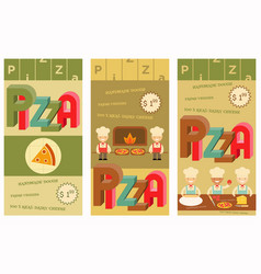 Pizza food menu vector