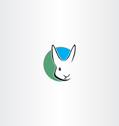 rabbit logo design symbol vector image
