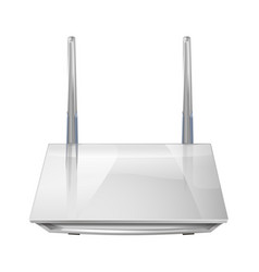Realistic 3d wireless router isolated on white vector