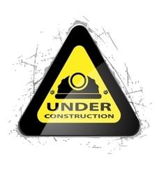 Road Yellow Construction icon vector