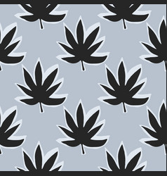 seamless pattern with marijuana ganja leaves vector image