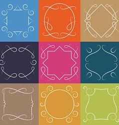 Set of retro monograms Elegant Outline borders and vector