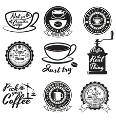 Set of vintage coffee shop badges and signs vector image