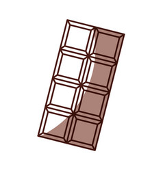 Shadow chocolate bar cartoon vector