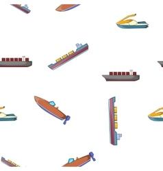 Ships pattern cartoon style vector image