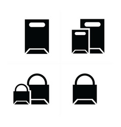 Shopping bags set paper bags vector