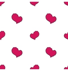 Simple hearts seamless pattern on white background vector image