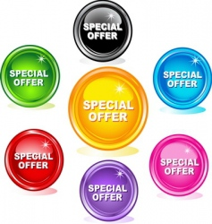 special offer buttons vector image
