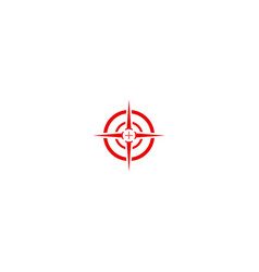 Target sign focus design logo vector