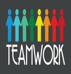 team work1 resize vector image