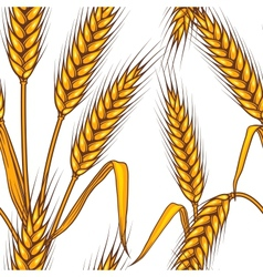 Wheat field Seamless pattern vector