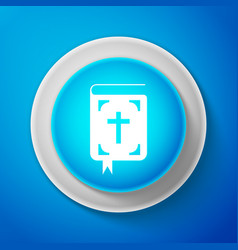 white bible book icon holy bible book sign vector image