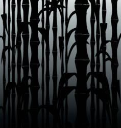 bamboo black vector image vector image