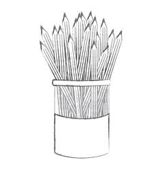 Contour pencils color inside the butter jar icon vector