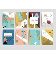 Memphis cards pattern of geometric shapes vector image vector image