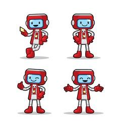 Ticket Machine Robot vector image vector image