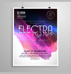club party event layout flyer brochure template vector image