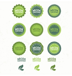 Eco And Bio Labels Collection vector image vector image