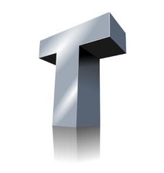 3d icon - metallic t 3 vector image vector image
