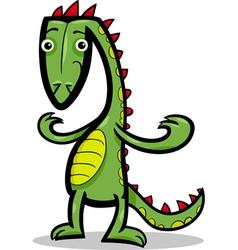 cartoon of lizard or dinosaur vector image vector image