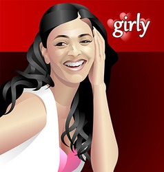 girly vector image vector image