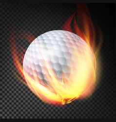 golf ball on fire burning style vector image vector image