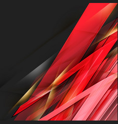 abstract black and red background vector image vector image