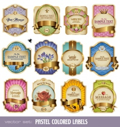 gold labels vector image vector image