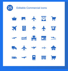 25 commercial icons vector