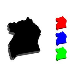 3d map of uganda vector image