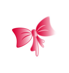 a bow pink of the present icon party vector image