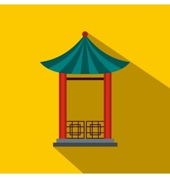 A japanese lotus pavilion icon flat style vector image