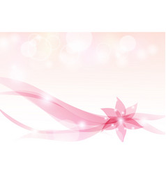 abstract background floral pink bokeh-light vector image