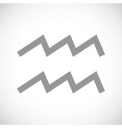Aquarius black icon vector