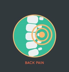 Back pain poster vector