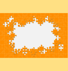 Background puzzle jigsaw puzzle frame vector