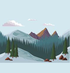 beautiful landscape scenery vector image