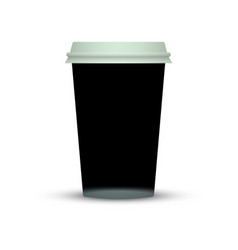 black coffee cup template vector image
