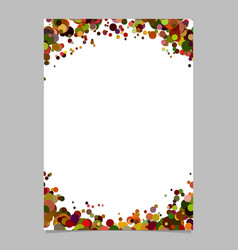 Blank abstract dispersed confetti circle flyer vector