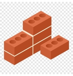 Bricks isometric 3d icon vector