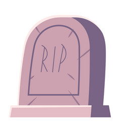 cemetery tombstone with rip inscription cartoon vector image