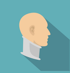 Cervical collar icon flat style vector