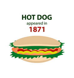 charles feltman invented the hot dog in 1871 vector image